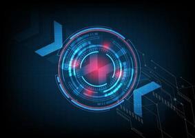 tecnologia digitale astratta ui futuristico hud elementi di interfaccia virtuale sci-fi utente moderno motion graphic. concetto innovativo di tecnologia. vettore