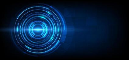 sfondo astratto tecnologia futuristica. elemento cerchio hud. vettore