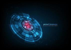 sfondo astratto tecnologia futuristica. elemento cerchio hud. concetto di comunicazione hi-tech. vettore