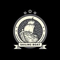 disegno dell'illustrazione della barca a vela vettore