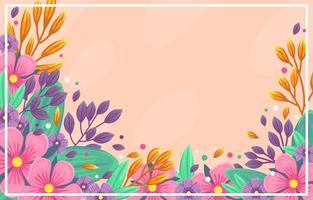 colorfull fiore sfondo di primavera vettore