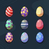 uovo colorato artistico per icona di Pasqua vettore