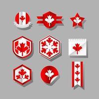 adesivo nazionale del patriota giorno canada vettore