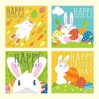 concetto di post sui social media di Pasqua vettore
