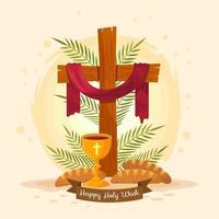 elementi cristiani per la domenica delle palme vettore