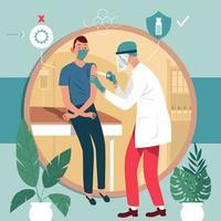 concetto di processo di vaccinazione per la salute dell'immunità vettore