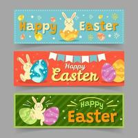 banner festa di Pasqua vettore