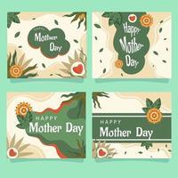 carta di felice festa della mamma vettore