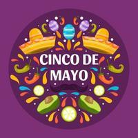 colorata festa del cinco de mayo vettore