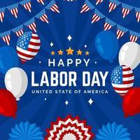 sfondo della festa del lavoro degli Stati Uniti vettore