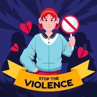 fermare la violenza donne giorno vettore