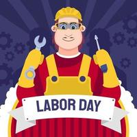 lavoratore della giornata del lavoro vettore