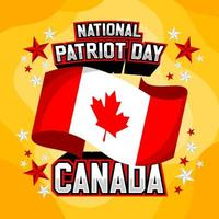 giornata nazionale del patriota canada vettore