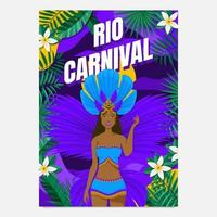 poster del ballerino del festival di rio vettore