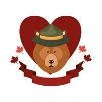 orso animale per la celebrazione del giorno del canada vettore