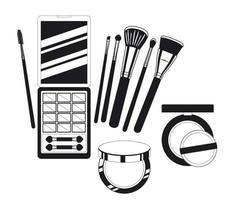 set di prodotti per il trucco vettore