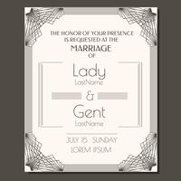 Vettore di invito a nozze