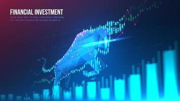 concept art di investimento finanziario rialzista vettore