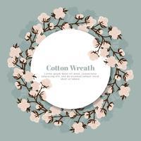 corona di cotone vettoriale