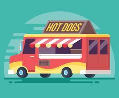 Illustrazione di vettore del camion di cibo