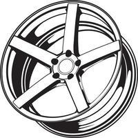 illustrazione della ruota di automobile per la progettazione concettuale. vettore