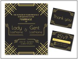 Vettore dell'invito della partecipazione di nozze