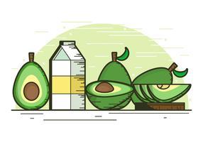 Illustrazione di sfondo avocado