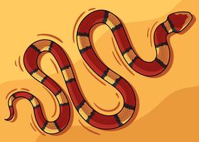 Serpente rosso vettore