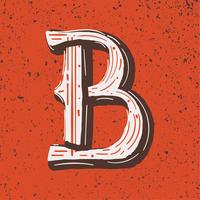 Lettera B stile grunge vettore