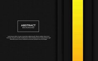 presentazione astratta sfondo giallo e nero vettore