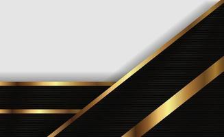 linea di presentazione oro e design bianco vettore