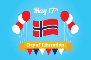 Sfondo della Giornata della Liberazione in Norvegia vettore