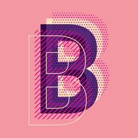 tipografia della lettera B vettore
