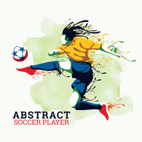 Giocatore di calcio astratto vettore