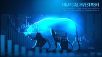 concept art di investimento finanziario ribassista vettore
