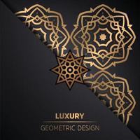 fondo ornamentale di progettazione della mandala nel vettore di colore dell'oro