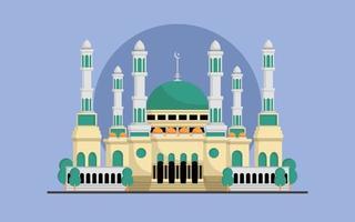 grande illustrazione vettoriale moschea islamica
