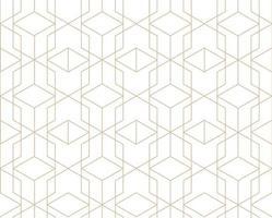 motivo geometrico astratto delle mattonelle. sfondo senza soluzione di continuità con ornamento di linea in stile geometrico degli anni '30 vettore