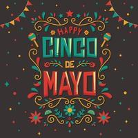 festival cinco de mayo con disegno a mano vettore
