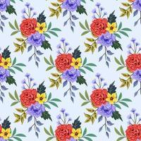 modello senza cuciture con illustrazione di disegno floreale botanico colorato. vettore