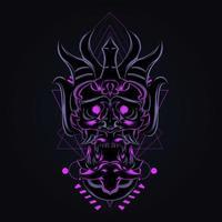 illustrazione del materiale illustrativo della maschera del diavolo vettore