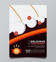 modello di volantino e poster di promozione della vendita di cibo vettore