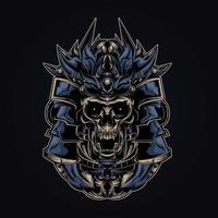illustrazione di opere d'arte di satana ronin vettore