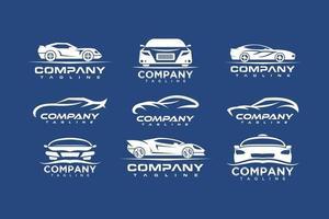 impostare il logo dell'auto, vettore di design creativo