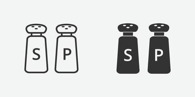 illustrazione vettoriale di icona di sale e pepe per il sito Web e la progettazione di app mobili