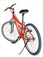 bicicletta rossa sul vettore grafico illustrazione