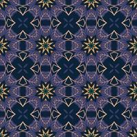 seamless con mandala astratta arabesco ornamentale illustrazione. vettore