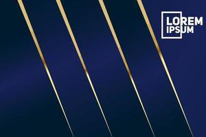 sfondo geometrico astratto blu scuro e oro premium. vettore
