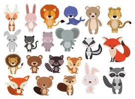 simpatico set di animali vettore