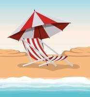 design della sedia per l'estate e le vacanze vettore